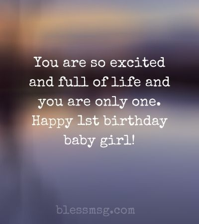 First Birthday Quotes for Baby Girl