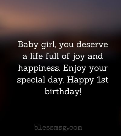 First Birthday Wishes for Baby Girl