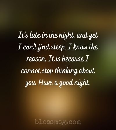 Good Night Messages for Crush