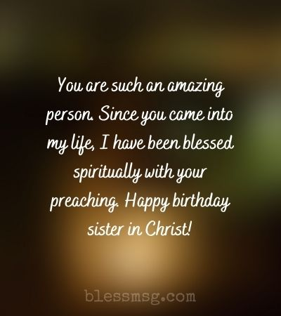 Religious Birthday Wishes for Sister